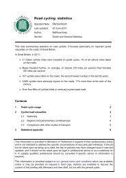Road cycling: statistics ( PDF, 22 pages, 129.8 KB) - Parliament