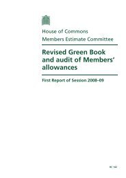 Revised Green Book and audit of Members' allowances - Parliament