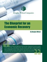 The Blueprint for an Economic Recovery