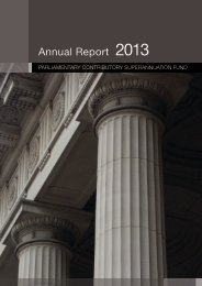 Parliamentary Contributory Superannuation Fund Annual Report 2013