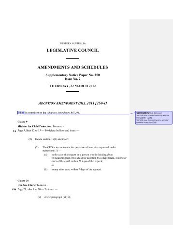 Download the proposed amendments to the Bill - Parliament of ...