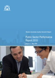 Public Sector Performance Report 2010 - Parliament of Western ...