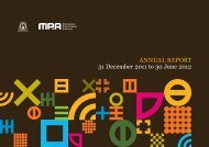 AnnuAl RepoRt 31 December 2011 to 30 June 2012 - Parliament of ...