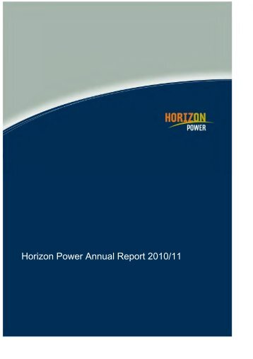 Horizon Power Annual Report 2010/11 - Parliament of Western ...
