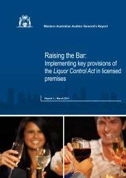 Raising the Bar: - Parliament of Western Australia