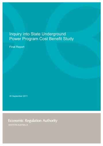 Inquiry into the State Underground Power Program Cost Benefit