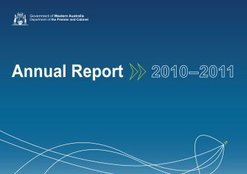 Annual Report 2010–2011 - Parliament of Western Australia - The ...