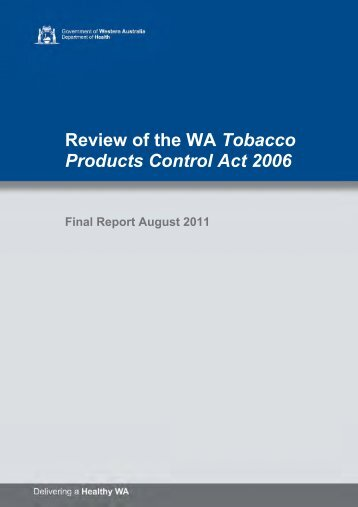 Final Report (August 2011) - Parliament of Western Australia