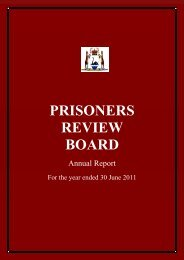 PRISONERS REVIEW BOARD - Parliament of Western Australia