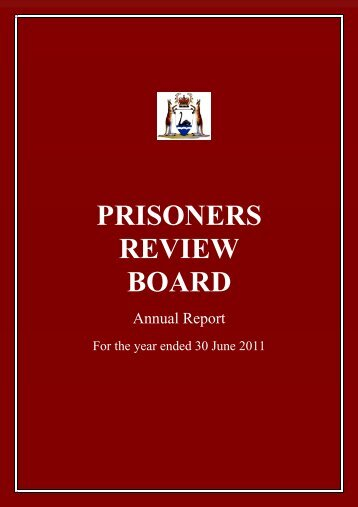 PRISONERS REVIEW BOARD - Parliament of Western Australia