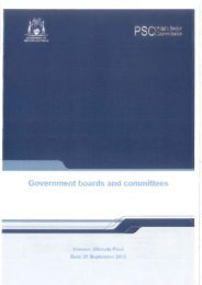 Government Boards and Committees, 21 September 2012