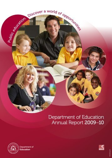 Department of Education Annual Report 2009–10 - The Department ...