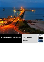 Broome Port Authority - Parliament of Western Australia