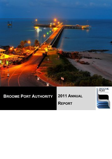 Broome Port Authority - Parliament of Western Australia