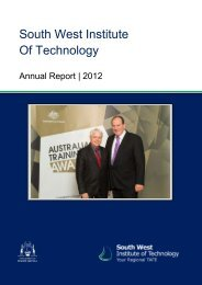 South West Institute of Technology | Annual Report 2012