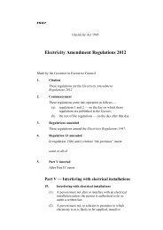 Electricity Amendment Regulations 2012 - Parliament of Western ...