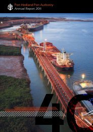 Port Hedland Port Authority Annual Report 2011 - Parliament of ...