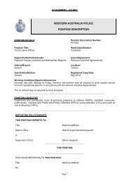Job description of a youth liaison officer - Parliament of Western ...