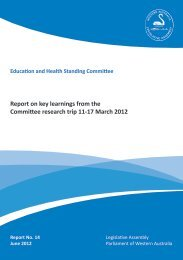 Report on key learnings from the Committee research trip 11-17 ...
