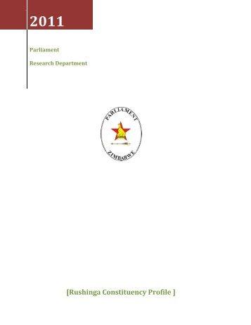 Rushinga Constituency Profile - Parliament of Zimbabwe