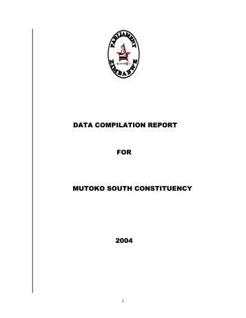 Mutoko South - Parliament of Zimbabwe