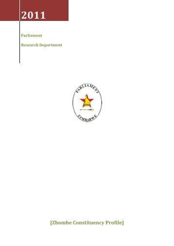 Zhombe Constituency Profile - Parliament of Zimbabwe