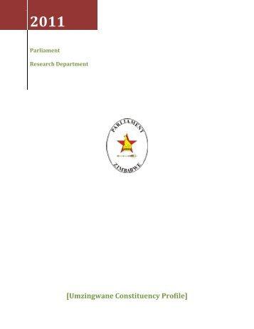 Umzingwane Constituency Profile - Zimbabwe Parliament