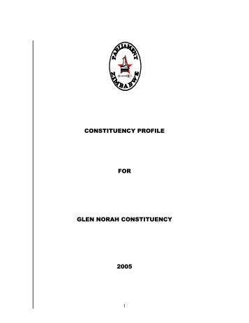 CONSTITUENCY PROFILE FOR GLEN NORAH CONSTITUENCY ...