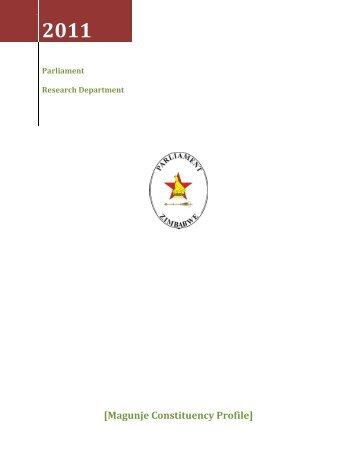 Magunje Constituency Profile - Zimbabwe Parliament