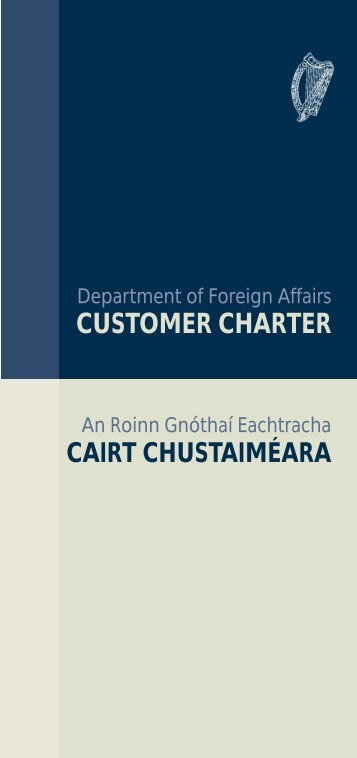 CUSTOMER CHARTER - Department of Foreign Affairs