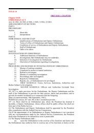 ombudsman act - Parliament of Zimbabwe