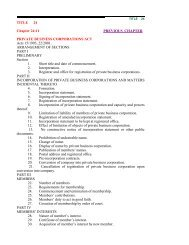 PRIVATE BUSINESS CORPORATIONS ACT Vol.24 No.11