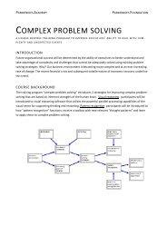 COMPLEX PROBLEM SOLVING - Parmenides Foundation