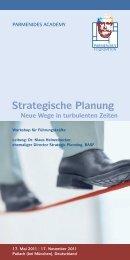 Strategische Planung - Parmenides Foundation