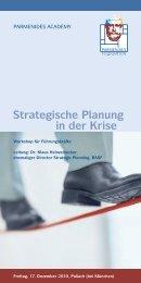 Strategische Planung in der Krise - Parmenides Foundation