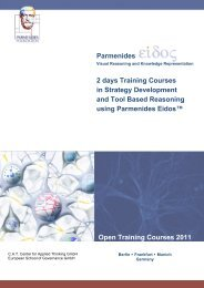 Parmenides 2 days Training Courses in Strategy Development and ...