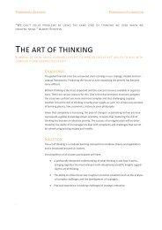 THE ART OF THINKING - Parmenides Foundation