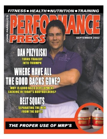 Performance Press / September 2002 - Parrillo Performance