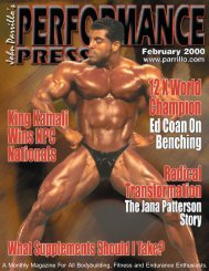 A Monthly Magazine For All Bodybuilding, Fitness - Parrillo ...