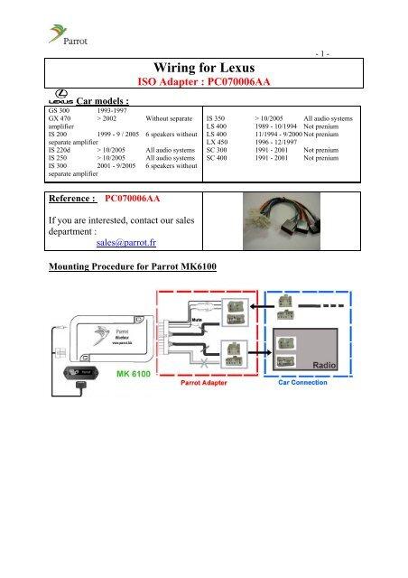 1994 lexus gs300 wiring diagram wiring for lexus parrot  wiring for lexus parrot