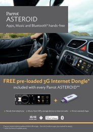 FREE pre-loaded 3G Internet Dongle included with every Parrot ...