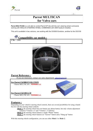 parrot multican for volvo cars?quality\=85 parrot ck3000 wiring diagram gandul 45 77 79 119 parrot mki9200 wiring diagram at bayanpartner.co