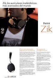 Zik, los auriculares inalámbricos más avanzados del mundo - Parrot