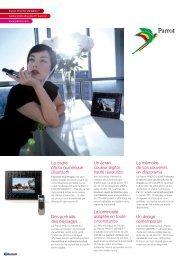 Le cadre photo numérique Bluetooth Un écran couleur ... - Parrot