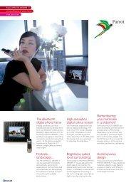 The Bluetooth digital photo frame High-resolution digital ... - Parrot