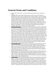 General Terms and Conditions - Parrot