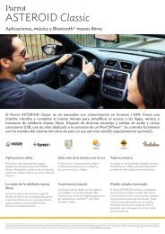 Aplicaciones, música y Bluetooth® manos libres - Parrot