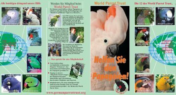 Helfen Sie den Papageien! - World Parrot Trust