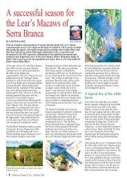 PsittaScene Volume 15, Number 1; February ... - World Parrot Trust