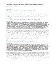 Flock Talk Interview with Steve Martin of Natural ... - World Parrot Trust